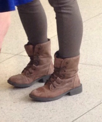 shoes boots combat boots lace up brown boots