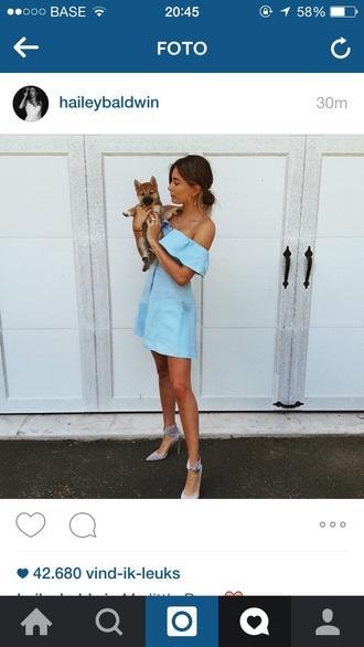 dress blue dress blue prom dress summer dress blue summer dress what brand hailey baldwin streetstyle light blue grey shoes