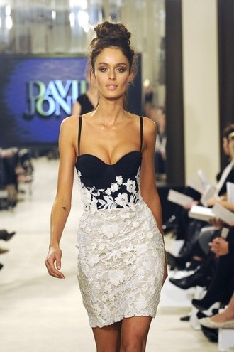 dress alex perry alex perry floral dress black and white david jones lace dress white & black dress