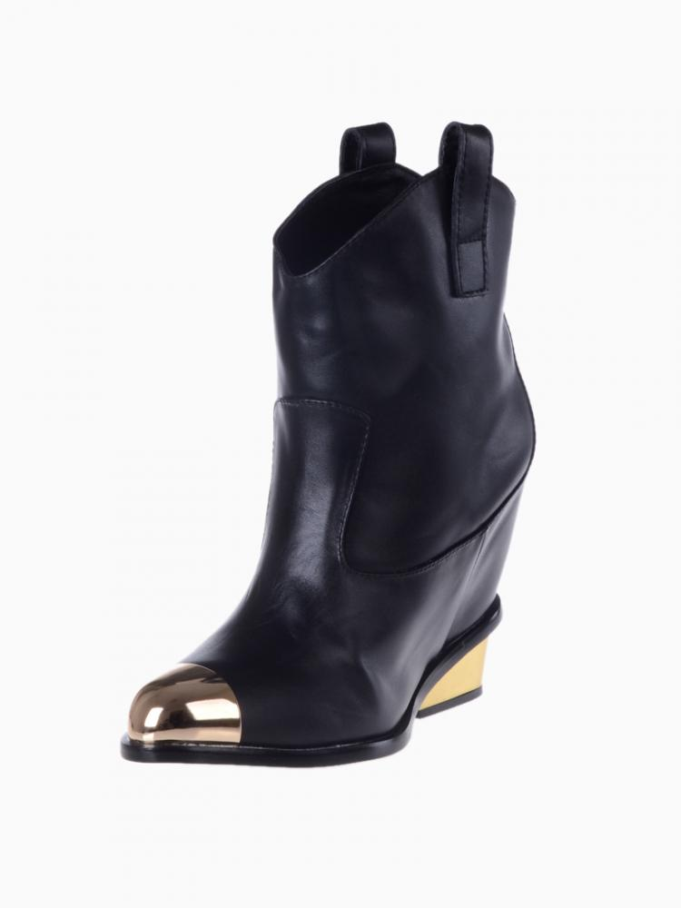 Metal Toe Cap And Heel Boots | Choies