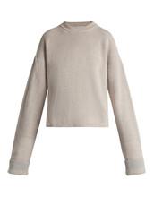 sweater,wool sweater,slit,wool