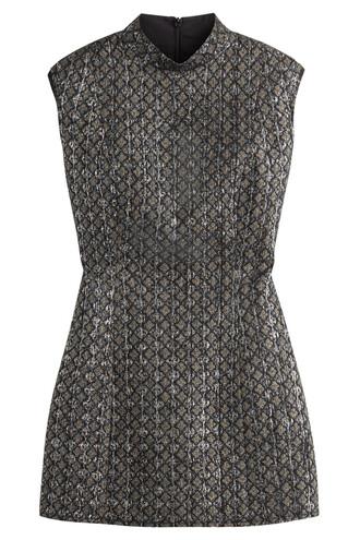 dress metallic dress metallic wool multicolor