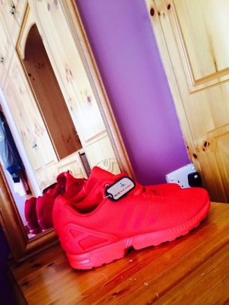 shoes adidas flux triple reds