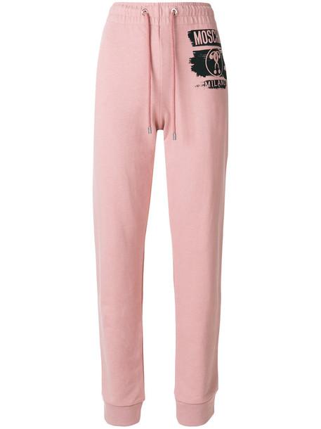 Moschino women classic cotton purple pink pants
