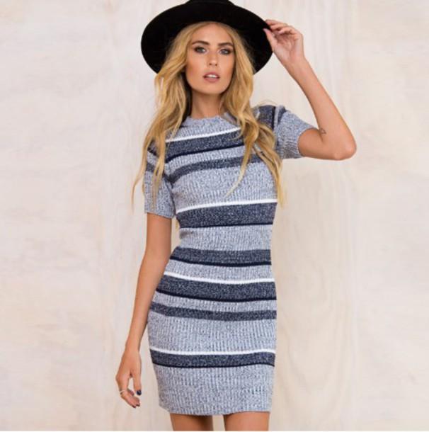 6d7e471d5d dress girl girly girly wishlist grey grey dress bodycon bodycon dress knit  stripes knitted dress striped