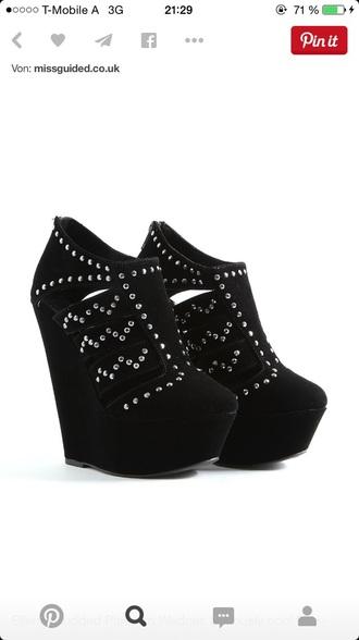 shoes wedges cutout highheels heels