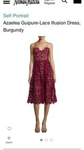 dress,azaelea guipure