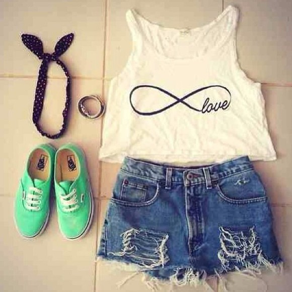 infinity shorts high waisted short high waisted jean shorts crop tops shirt