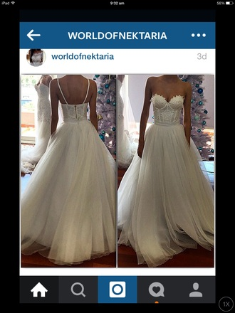 dress white lace dress fairy tale wedding dress long white prom dress
