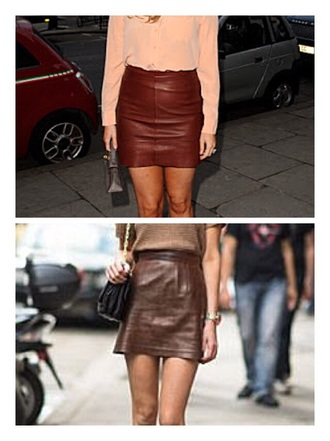 skirt brown skirt