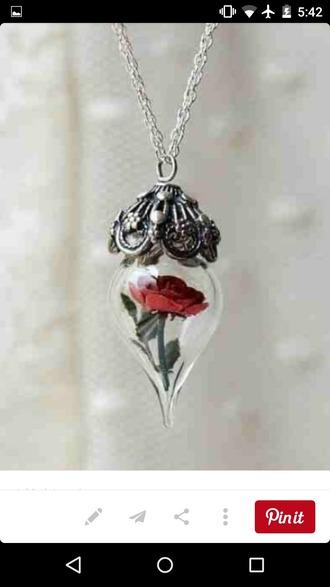 jewels pendant locket neclaces rose