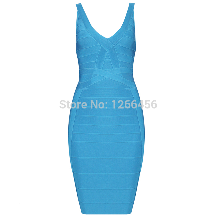 Aliexpress.com : Buy 2014 New Sexy Blue Bandage Dress Slim Women's Party Club Dress Clubwear Bodycon Backless Nightclub Cocktail Dresses V Neck H183 from Reliable dress code evening casual suppliers on Lady Go Fashion Shop