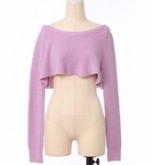 sweater,knitted sweater,cropped sweater,crop tops,purple t-shirt