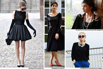dress black black dress cocktail dress prom cute girl lace short audrey hepburn cocktail