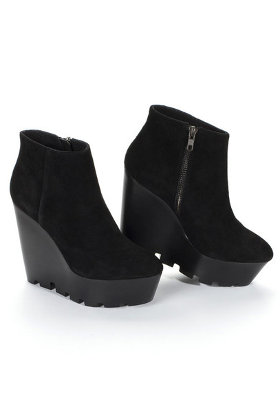 shoes high heels platform black