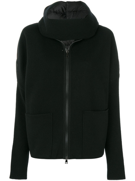 moncler jacket women black wool