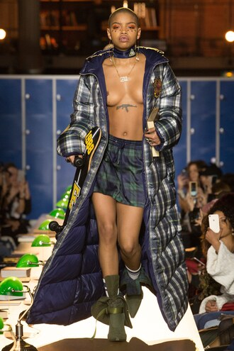 skirt jacket runway fenty x puma fashion week 2017 paris fashion week 2017