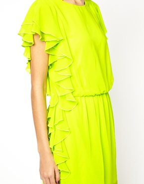 ASOS | ASOS Ruffle Side Shift Dress at ASOS