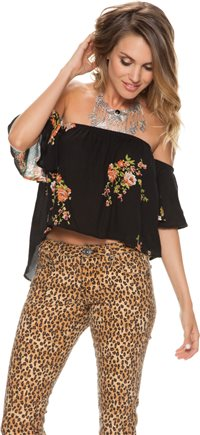 SWELL ROSALIE OFF SHOULDER FLORAL TOP | Swell.com