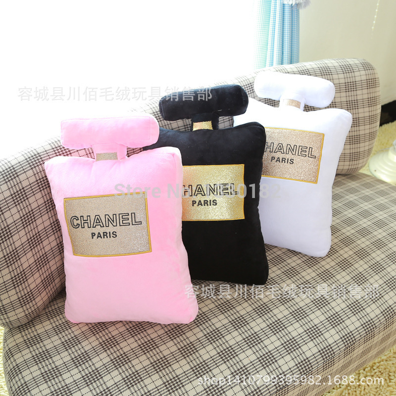 Free shipping [ New the third group ] creative Chanel perfume bottle shape pillow doll plush toys wholesale chanel-in Cushion from Home & Garden on Aliexpress.com | Alibaba Group