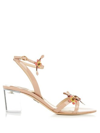 embellished sandals leather sandals leather nude shoes