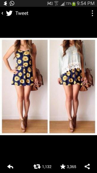 sunflower dress floral