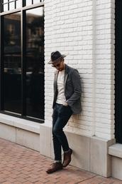 stay classic,blogger,jacket,sweater,shirt,jeans,shoes,socks,dress,hat,jewels,sunglasses
