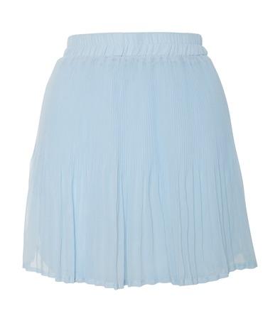 glamorous light blue mini pleat skirt at a wear