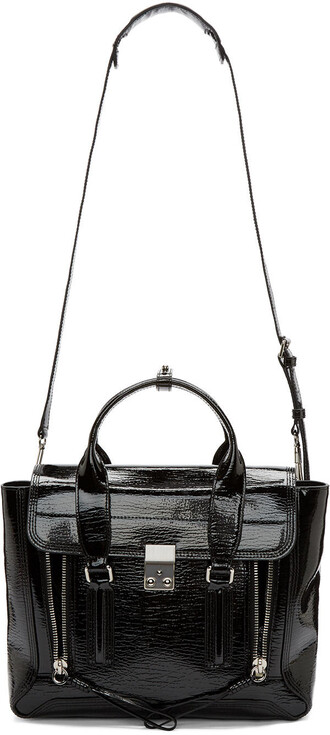 satchel leather black bag