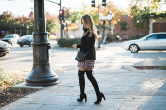 fashionborn blogger sweater skirt shoes bag