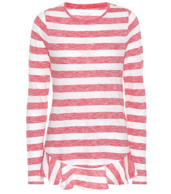 81hours Nella striped cotton top in red