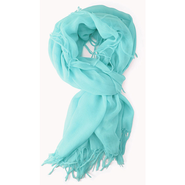 FOREVER 21 Knotted Fringe Scarf - Polyvore