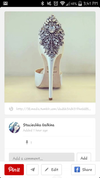 shoes sparkle bling high heels wedding shoes