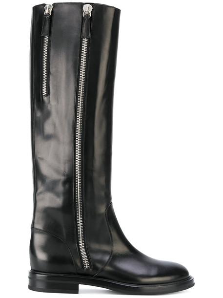 CASADEI women leather black shoes