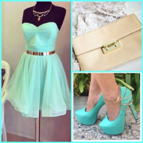 belt bag dress jewels shoes