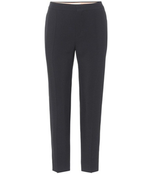 Chloe cropped black pants