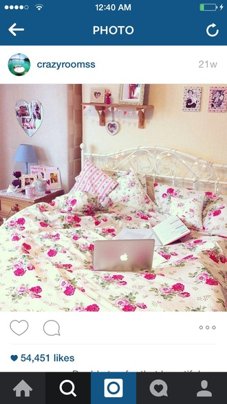 home accessory bedding roses floral bedroom girly