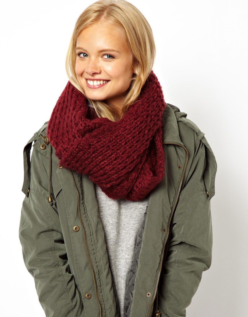 ASOS Rib Knit Snood at asos.com