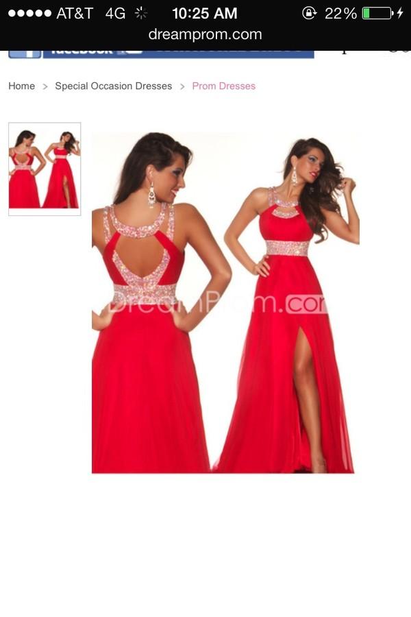 dress red prom dress