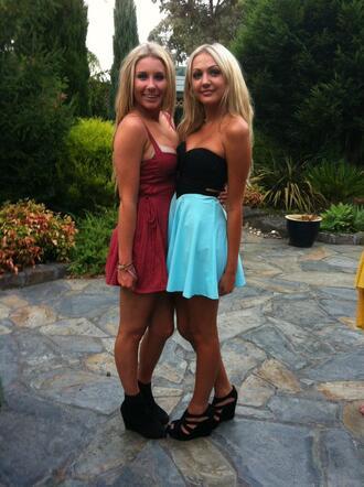 blue dress prom homecoming formal mini dress cut-out sweatheart aqua