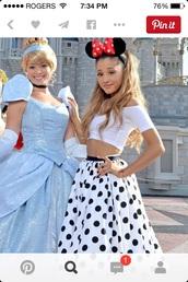 skirt,ariana grande dress,ariana grande,ariana grande black white polka dot,dress