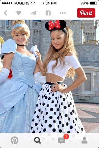 skirt ariana grande dress ariana grande ariana grande black white polka dot dress
