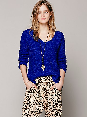 Free People  Shaggy Knit Pullover at Free People Clothing Boutique