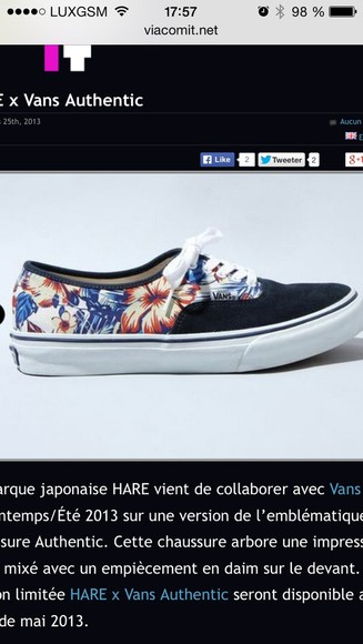 vans vans authentic shoes flowers vans, floral, indie, hippie, hipster, grunge, shoes, girly, tomboy, skater black hawaii