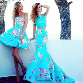 dress prom dress floral dress