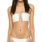 Mikoh sunset bandeau bikini top - bone