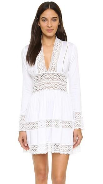 dress lace dress fleur lace white