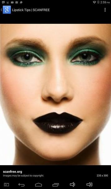 make-up brownish black