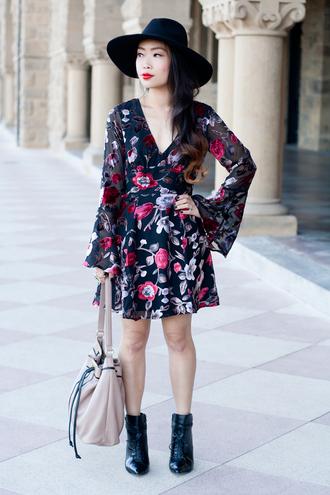 it's not her it's me blogger bag hat floral dress
