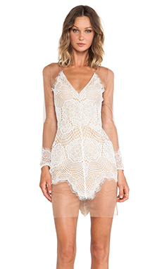 For Love & Lemons Antigua Mini Dress in White | REVOLVE
